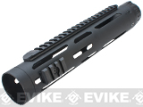 ICS Full Metal Free Float Tubular RIS Handguard for M4 / M16 Series Airsoft AEG Rifles - 11.5