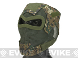 Matrix Iron Face Carbon Steel Watcher Gen7 Metal Mesh Full Face Mask (Color: Digital Woodland)