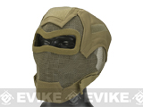 Matrix Iron Face Carbon Steel Watcher Gen7 Metal Mesh Full Face Mask (Color: Tan)