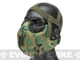 6mmProShop V5 Breathable Padded Dual Layered Nylon Half Face Mask w/ Bump Helmet Straps (Color: AOR2)