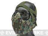 6mmProShop V5 Breathable Padded Dual Layered Nylon Half Face Mask w/ Bump Helmet Straps (Color: Digital Woodland)