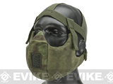 6mmProShop V5 Breathable Padded Dual Layered Nylon Half Face Mask w/ Bump Helmet Straps (Color: Arid Foliage)