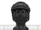 "6mmProShop Iron Face Mesh ""Striker V1"" Lower Half Mask for Use with Bump Helmets - Black"