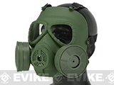 Matrix Mock Costume Gas Mask with Twin Fans - OD Green