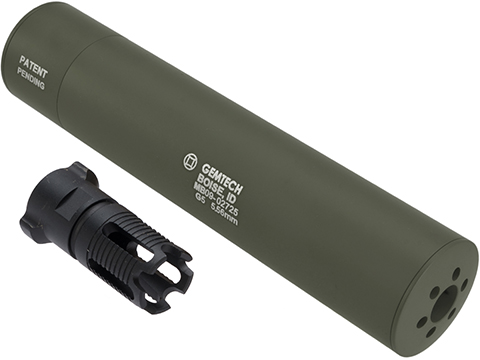 Madbull Gemtech QD Mock Suppressor Barrel Extension with Flashhider (Color: OD Green)