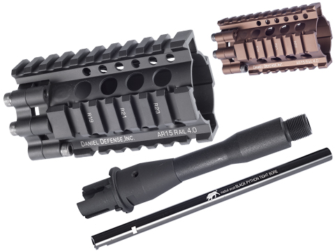 Madbull Daniel Defense 4 Lite RIS Kit for Airsoft M4 / M16 Series (Color: Black)