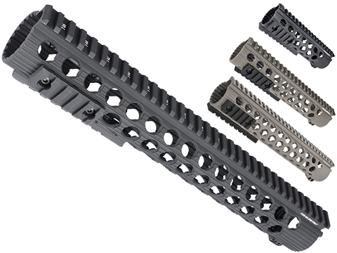 Troy Industries Licensed TRX Battle Rail for M4 Series AEG by Madbull Airsoft (Color: Black / 13)