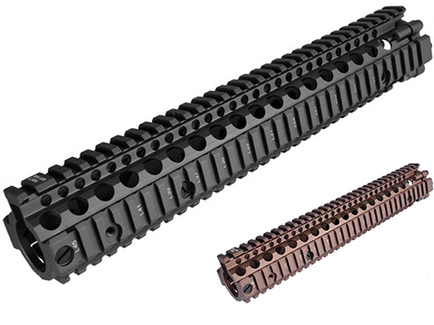 Madbull Daniel Defense MK12 12 M4A1 RIS II Airsoft CNC Aluminum RIS (Color: Black)