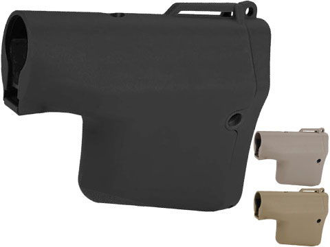 Madbull Airsoft TROY Battle Ax Retractable Stock for M4 / M16 Series Airsoft AEG Rifles (Color: Black)