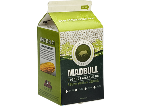 Madbull Airsoft 6mm Biodegradable .20g Precision BB Milk Carton (Qty: 3000)