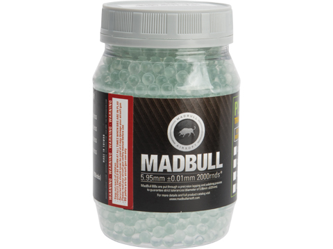 MadBull Special Op Grade 6mm Target Practice Airsoft BB (Model: .28g Glass / 2000rd Bottle)
