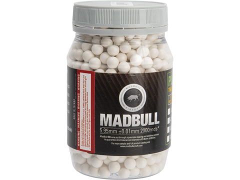 MadBull High Impact 8mm Airsoft Sniper BB (Model: .48g White / 850rd Bottle)