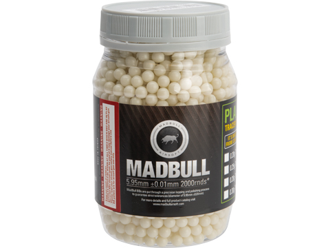 MadBull Precision 6mm Airsoft Tracer BB (Model: .25g Alien Green / 2000rd Bottle)