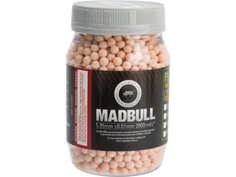 MadBull Precision 6mm Airsoft Tracer BB (Model: .25g Killer Red / 2000rd Bottle)