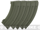 King Arms AK 110 rounds Thermal Style Mid-Cap Magazines - OD Green (Box of 5)
