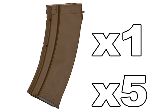 MAG 100 Round Mid-cap Magazine For AK Series Airsoft AEG (Color: Imitation Bakelite / 5.45 Style / One Magazine)