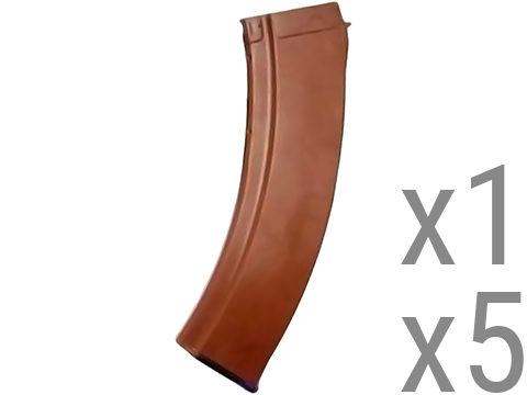 MAG EX-Long 140rd Mid-Cap Long Magazine for AK Series Airsoft AEG (Color: Imitation Bakelite / Single Magazine)