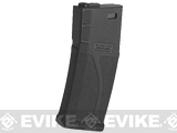 Blue Box 140rd Polymer Midcap Magazine for M4 / M16 Series Airsoft AEG Rifles - Black / One