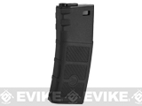 G&P Evike High RPS 130rd Polymer Mid-CAP Magazine for M4 M16 Airsoft AEG Rifles - Black /One
