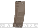 G&P High RPS Polymer Training Magazine w/ EV Texturing for M4 Airsoft AEG Rifles (Type: 130rd Mid-Cap / Dark Earth / Single)