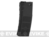 Evike High RPS 360rd Hi-Cap Polymer Magazine for M4 Airsoft AEG Rifles by G&P (Color: Black / Single)