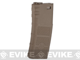 G&P Evike High RPS 360rd Polymer HI-CAP Magazine for M4 M16 Airsoft AEG Rifles - Dark Earth /One