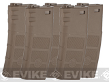 G&P Evike High RPS 360rd Polymer HI-CAP Magazine for M4 M16 Airsoft AEG Rifles - Dark Earth / Set of 5