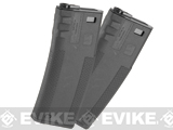 TROY Industry 340rd Polymer Battle Magazine for M4 M16 Airsoft AEG Rifles by G&P Socom Gear - Black (Set of 2)