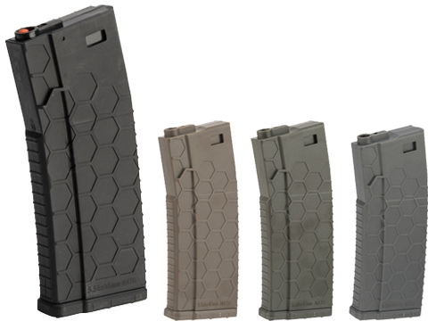 Hexmag ECO Airsoft 120rds Polymer Mid-Cap Magazine for M4 / M16 Series Airsoft AEG Rifles(Color: Black / Single)