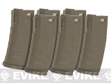 KWA K120 120rd Polymer Midcap Magazine for M4 / M16 Series Airsoft AEG Rifles (Color: Flat Dark Earth / Set of 6)
