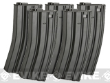 Matrix Metal 300rd Hi-Cap Magazine for M4/M16 Series Airsoft AEG Rifles (Color: Black / Set of 5)