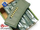 Magpul PTS 75rd Mid-Cap PMAG for M4 M16 Series Airsoft AEG - OD Green (Box Set of 5)