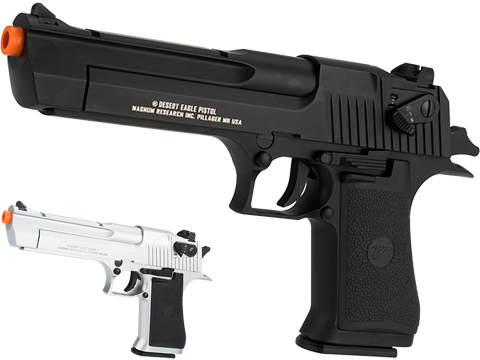 Magnum Research Licensed Semi/Full Auto Metal Desert Eagle CO2 Gas Blowback Airsoft Pistol by KWC (Color: Silver)