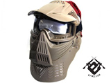 Transformer Modular Airsoft / Paintball Mask w/ Visor & Neck Guard - Desert Tan