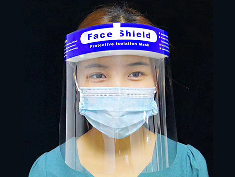 Reusable Splash Protection Face Shields (Qty: 1 Shield)