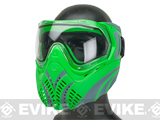 Valken Identity Full Seal Paintball Goggles Green/Grey - Clear Lens