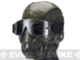 Evike.com R-Custom Fiberglass Crysis Mask w/ Full Seal Goggles - Digital Woodland