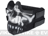 "Matrix Iron Face Carbon Steel ""Striker"" Gen5 Metal Mesh Lower Half Mask - Skull"
