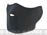 z Matrix Adjustable Half Face Neoprene Mask w/ No Vent Holes - Black