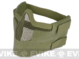 "Matrix Iron Face Carbon Steel ""Striker"" Gen5 Metal Mesh Lower Half Mask - OD Green"