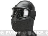 PDT-Tech NGH Next Gen Headgear Full Face Tactical Training Mask (ANSI Rated) - Black