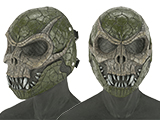 Evike.com R-Custom Basilisk Fiberglass Mask w/ Wire Mesh (Color: Olive Brown)