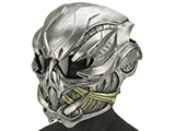 Evike.com R-Custom Fiberglass  Crysis Gunner Half Face Mask (Color: Silver / Clear Lens)
