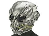 Evike.com R-Custom Fiberglass  Crysis Gunner Half Face Mask (Color: Silver / Smoke Lens)