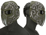Evike.com R-Custom Fiberglass  Koi Full Face Mask (Color: OD Green / Smoke Lens)