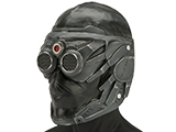 Evike.com R-Custom Mantis Fiberglass Mask w/ Wire Mesh (Color: Grey)