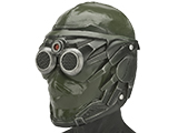 Evike.com R-Custom Mantis Fiberglass Mask w/ Wire Mesh (Color: OD Green)