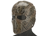 Evike.com R-Custom Raven Fiberglass Mask  (Color: Highlander Brown / Mesh Lens)