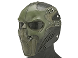 Evike.com R-Custom Smoke Fiberglass Mask w/ Wire Mesh (Color: OD Green)