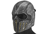 Evike.com R-Custom Wraith Fiberglass Mask w/ Wire Mesh (Color: Black/Gray)